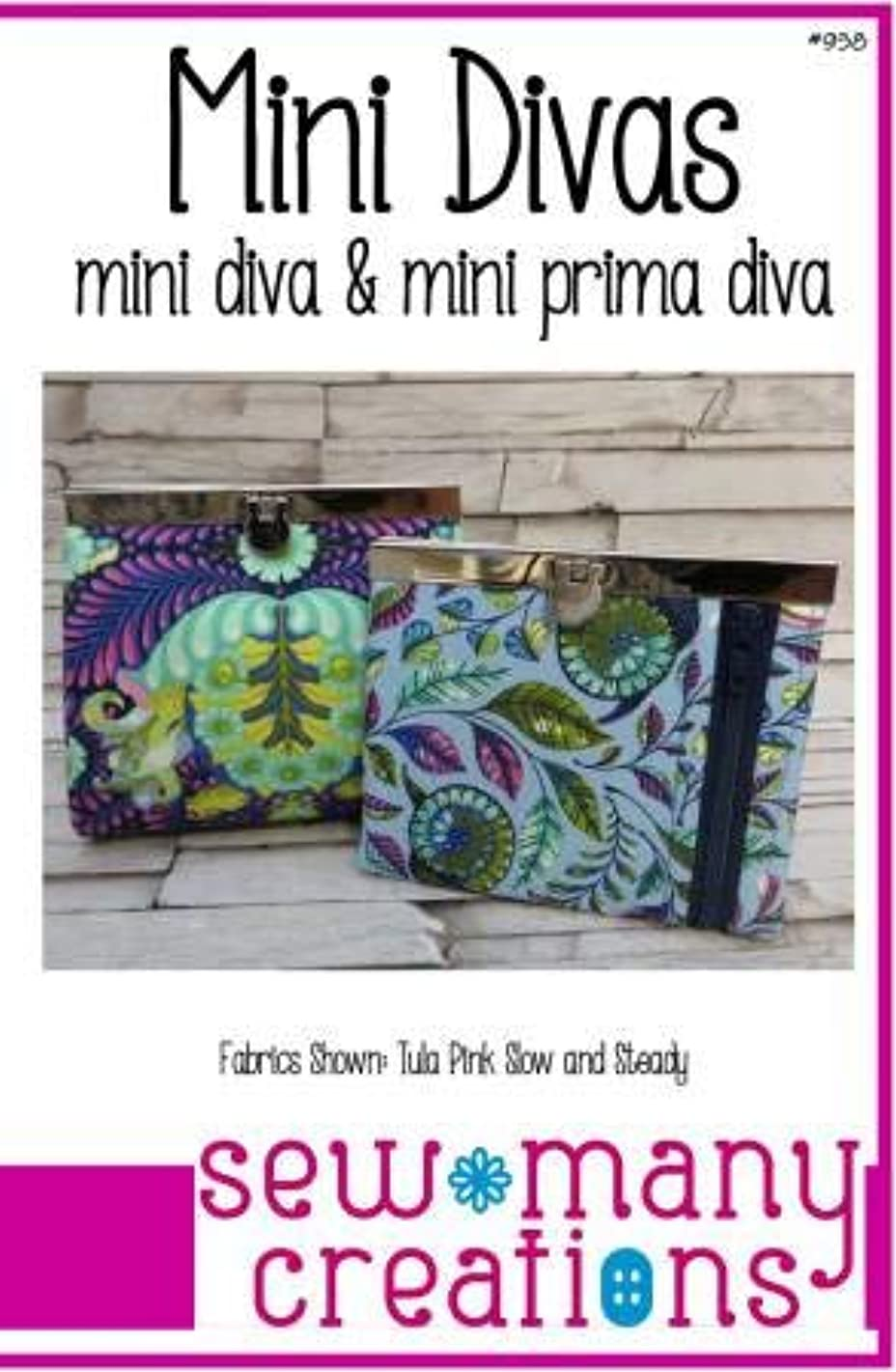 Sew Many Creations Clutch Wallet Patterns - Mini Diva & Mini Prima Diva