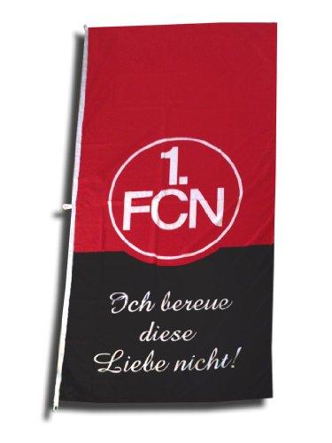 1. FC Nürnberg FCN Hissfahne Fahne 120cm x 250cm Fanaktion Ich bereue Diese Liebe Nicht