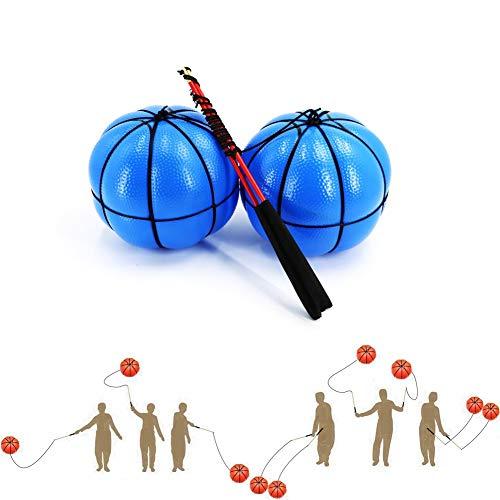 Los niños Flick Bouncing Ball,Ejercicio adulto Flick bola de mediana edad y de edad avanzada Balonmano Deportes calabaza Pelota de ejercicio de hombro grande Ejercicio y cuello, 2pcs azul de las bolas