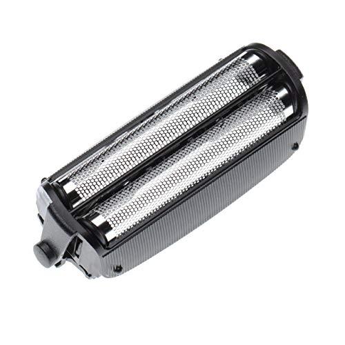 vhbw Doble hoja de corte compatible con Panasonic ES727, ES805, ES-RW30 máquina de afeitar - con marco, negro/plateado