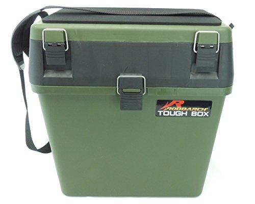 Seat Box & Fishing Tackle Box with Padded Strap & Seat Pad. Sea Boat or Coarse