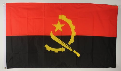 Buddel-Bini Flagge Fahne ca. 90x150 cm : Angola Angolaflagge Nationalflagge Nationalfahne
