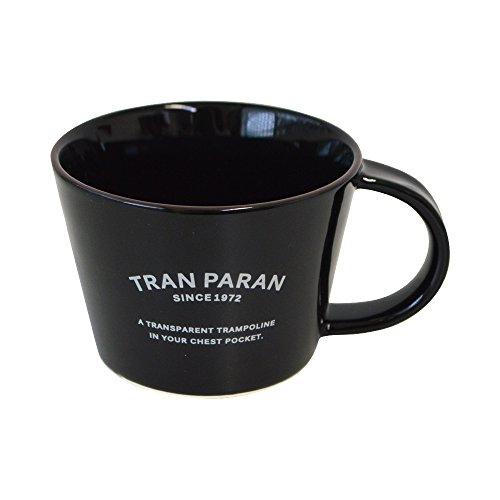 TRANPARAN マグカップ 瀬戸焼 陶器 半磁器 日本製 (ブラック)
