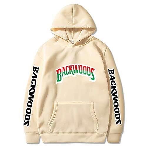 N\C Primavera Y Otoño para Hombre con Cordón Multibolsillos Backwoods Jersey Deportivo Estampado Hip-Hop Moda Suéter con Capucha L