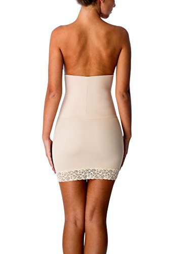 Cover Girl Shapewear Firm Control Half Slip Shaper with Lace Seamless & Breathable Halfslip Dress for Women (XL,Nude)
