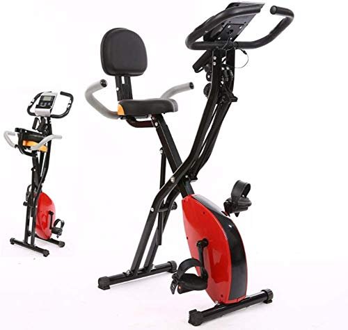 Bicicletas estáticas Plegables Verticales Sala de Fitness Magnética Ciclismo Deportes Bicicleta Familiar con Respaldo Spinning Inicio Bicicleta de Spinning Oficina Ideal Cardio Training