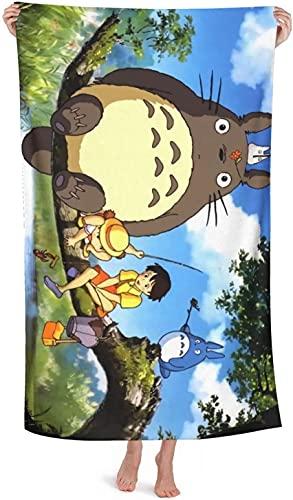 My Neighbor Totoro - Toalla de playa, piscina, toalla de ducha, absorbente, ligera, toalla de secado rápido (Totoro7, 90 x 180 cm)