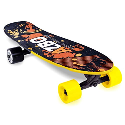 Electric Skateboard Longboard with Remote Control | 400W | UL2272 Certified/Motorized Powered Board C4 - 11.2 MPH High-Speed 7 Layers Maple Electric Longboard Best Gift for Adults