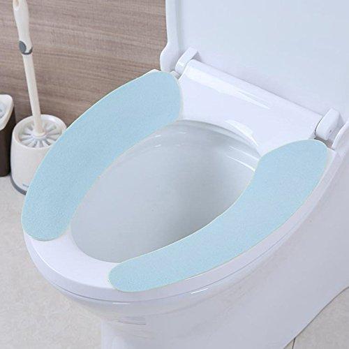 CHCUAN Toilettensitz Beheizte Flanellpaste Toilettenmatte Waschbar Sitzkissen Aufkleber Elektrostatisch