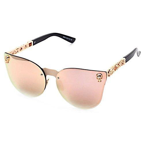 Botetrade New Oversized Gothic Herren Damen Marke Reflective Mirrored Stereoscopic Muster Sonnenbrille C6