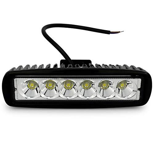 LED Arbeitsscheinwerfer, LACYIE 18W LED Scheinwerfer 12V-24V Zusatzscheinwerfer 6000K IP67 Wasserdicht für SUV, Truck, Traktor oder schweres Gerät (18W 1 Packung)
