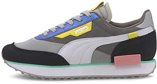 PUMA Womens Future Rider Royale Lace Up Sneakers Shoes Casual - Grey,Multi - Size 10.5 B