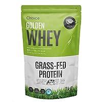 Choice GOLDEN WHEY ( ゴールデンホエイ ) ホエイプロテイン ココア 1kg [ 乳酸菌ブレンド / 人工甘味料不使用 ] GMOフリー タンパク質摂取 グラスフェッド ( プロテイン / 国内製造 ) 天然甘味料 ステビア 飲みやすい