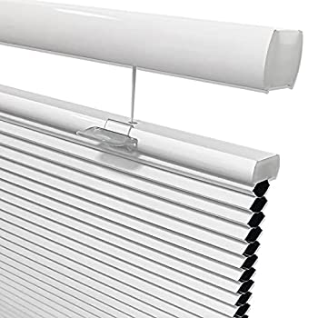Keego Blackout Top Down Bottom Up Cordless Window Shades Blinds for Windows-Custom Cut to Size Window Blinds & Shades for Home Kitchen Bedroom Office  White 100% Blackout Any Size