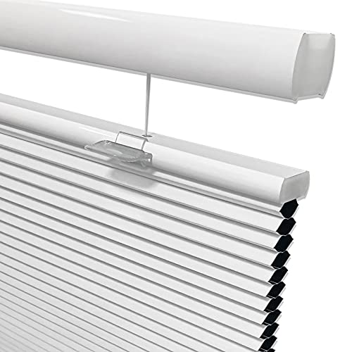 Keego Blackout Top Down Bottom Up Cordless Window Shades Blinds for Windows-Custom Cut to Size Window Blinds & Shades for Home Kitchen Bedroom Office (White 100% Blackout, Any Size)