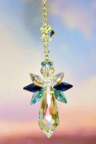 Schutzengel mit Sternchen – handgearbeitet aus Kristallen von Swarovski®