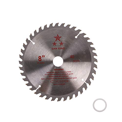 Hoja de sierra de metal duro para desbrozadora, diámetro de perforación de 25,4 mm 02