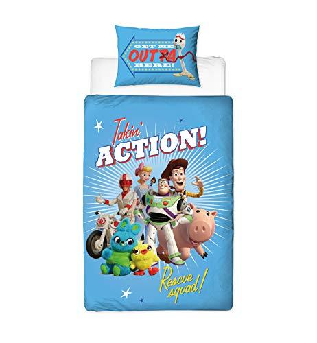 Funda de edredón para Cama Individual, diseño de Rescate de Toy Story 4, Reversible, de Dos Caras, con Funda de Almohada a Juego