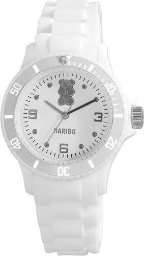 Haribo Damen-Armbanduhr Analog Silikon HA10290-WH