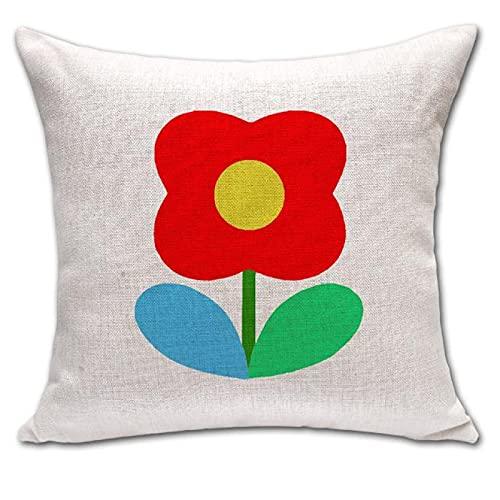 MissW Funda De Almohada Decorativa con Estampado De Flores Pequeñas De Colores Sin Núcleo De Almohada Funda De Cojín Engrosada con Cremallera Adecuada para Sofá De Coche