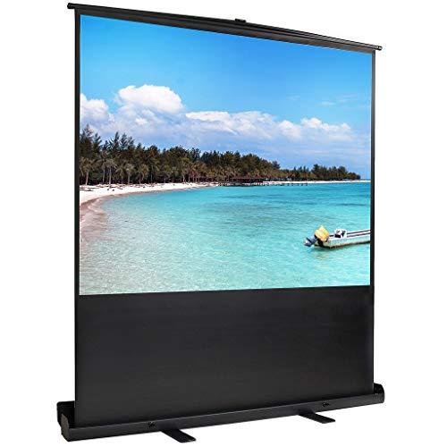 Todeco 4:3 163 x 123 cm Full HD 3D Ecran de Projection sur Pied Portable,Écran de Projecteur Blanc Opaque avec étui, autoportatif de