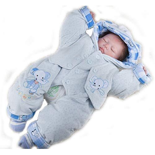 Simulation Puppe Reborn Baby 50cm Kleid Weiche Silikonpuppe Kinderspielzeug, 50cm,Babypuppen