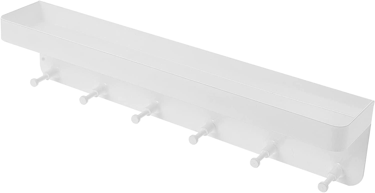 Cabilock Wall Shelf with Hook Picture trend rank Displ Max 74% OFF Floating Ledge White