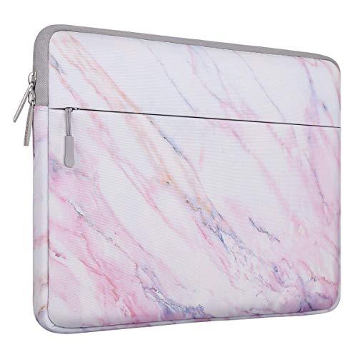 MOSISO Laptop Hülle Tasche Kompatibel mit 13-13,3 Zoll MacBook Pro, MacBook Air, Notebook Computer,Canvas Marmor Muster Sleeve Schutzhülle, Rosa