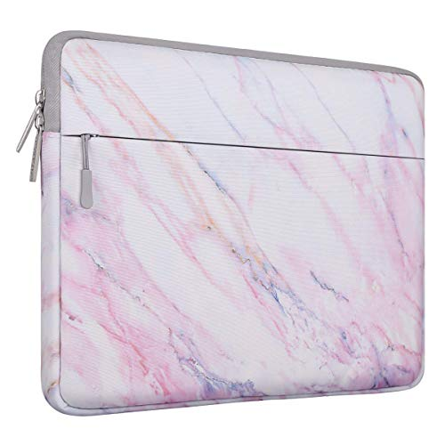 MOSISO Laptop Sleeve Compatible with 13-13.3 Inch MacBook Air, MacBook Pro Retina, Surface Book, Surface Laptop, Marble Pattern Carrying Case Bag Cover, Pink