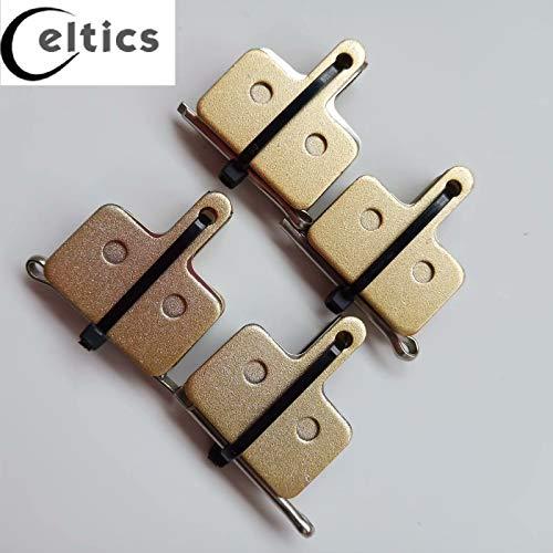 Celtics 4 Pairs Full Metal Bicycle Disc Brake Pads for Shimano Tektro M355 M375 M395 M415 M416 M416A M445 M446 M447 M465 M475 M485 M486 M495 M515 M515LA M525 M575 M975 C501 C601 T615 T675