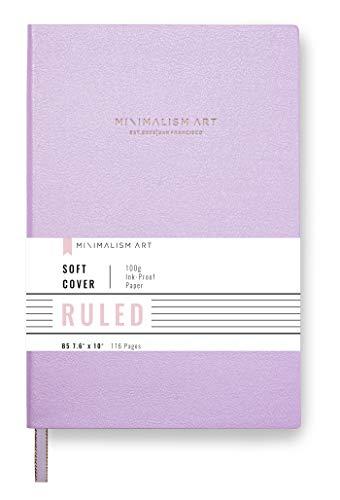Minimalism Art La cubierta suave cuaderno, Composición B5 Tamaño 7,6 x 10 pulgadas, color de rosa, gobernado forrado página, 192 páginas, PU de cuero refinado, papel grueso Premium - 100gsm