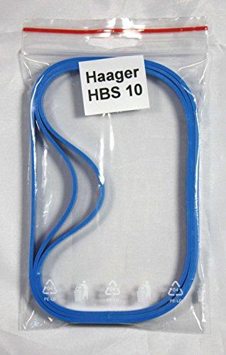 Bandage/Belagband für die Bandsägenmaschine Haager HBS 10, 3 teilig, hochwertig, Bindeglied zwischen Bandsägemaschine und Sägeband, Ersatz vom Laufrollenbelag Bandsägenbelag Rollenbelag Belag Band