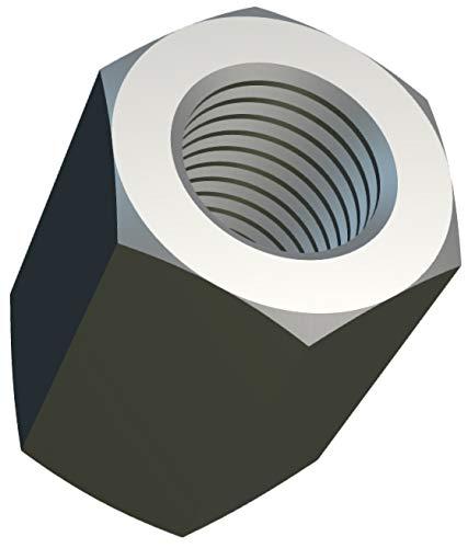 M5 Tuercas de Acoplamiento Hexagonales (15mm 8mm) Tuerca de Varilla Larga Rosca Hembra Acero Aleado Cincado para Equipos de Comunicación DIN 6334 (Paquete de 10) Altura 15mm