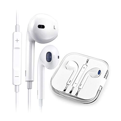 Earbuds/Headphones/Earphones,3.5mm Wired Headphones Noise Isolating Earphones Built-in Microphone & Volume Control Compatible Apple iPhone 6s/plus/6/5c/se/5s/iPad/Samsung/Android/MP3 MP4-03