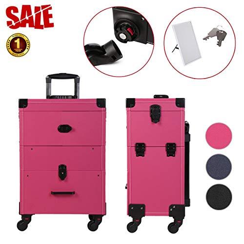Caja de Almacenamiento genérica con Cerradura para Rabia, con Ruedas, Color del Espejo: al Azar, para mamá, cosméticos, etc.