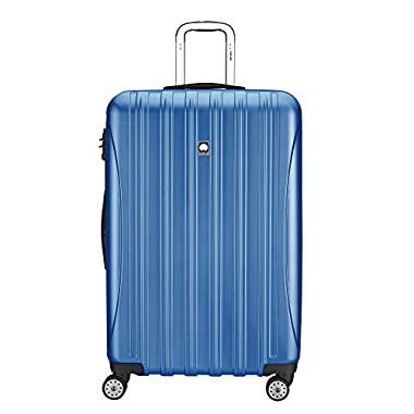 Delsey Luggage Aero Textured Expandable 29 Inch Spinner, Blue Textured