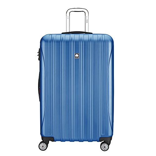 DELSEY Paris Helium Aero Hardside Expandable Luggage with Spinner Wheels, Blue Textured, Checked-Large 29 Inch