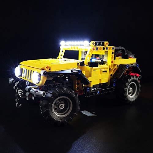 CALEN - Set di luci a LED per Lego 42122 technic Jeep Wrangler 4x4 giocattolo per auto modello Building Blocks di illuminazione soffusa compatibile con Lego 42122 (solo LED inclusi)