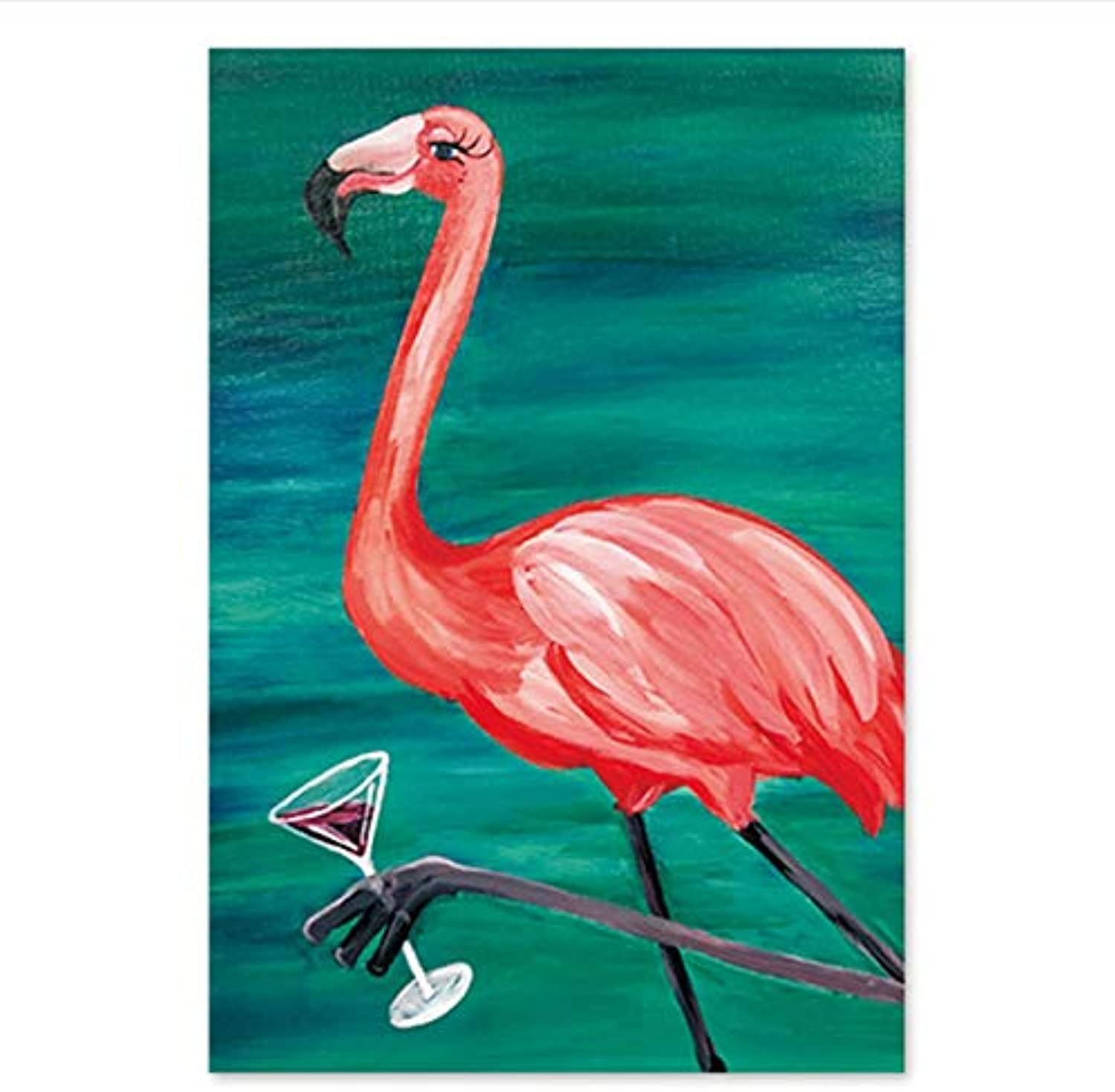 CAYYOU DIY Digital painting of flamingo with animal figures painting digital painting with his hand painting still living, Framed, 50x60cm