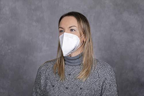 elasto form 10x FFP2 Atemschutzmaske MADE IN GERMANY FFP2 Zertifiziert CE 2163 KN95 Maske Staubschutzmaske Atemmaske Staubmaske verpackt im hygienischen PE-Beutel - 3