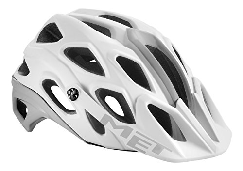 MET adultos casco para bicicleta de montaña Lupo, primavera/verano, unisex, color blanco, tamaño 54-58 cm