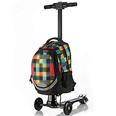 TWW Electric Luggage Trolley Smart Charging Trolley Luggage Suitcase Three-Wheeled Electric Scooter Aircraft Wheel Boarding Case,Multi colored