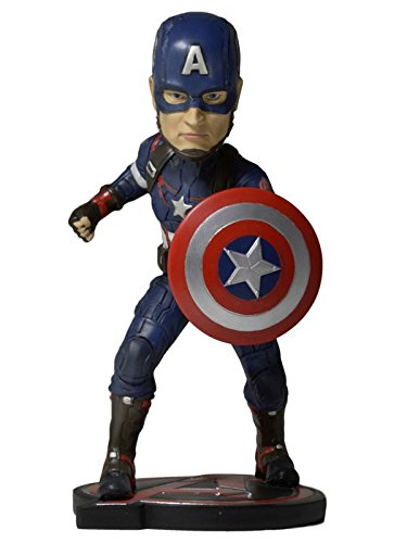 NECA- Avengers 2 Captain America Figurine Bobble Head, 634482614952, 18 cm