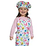chef apron and hat for girls - Dapper&Doll Toddler Apron & Chef Hat - Gift Set for Little Girls Age 2-4 (Birds, Flowers, Hearts)