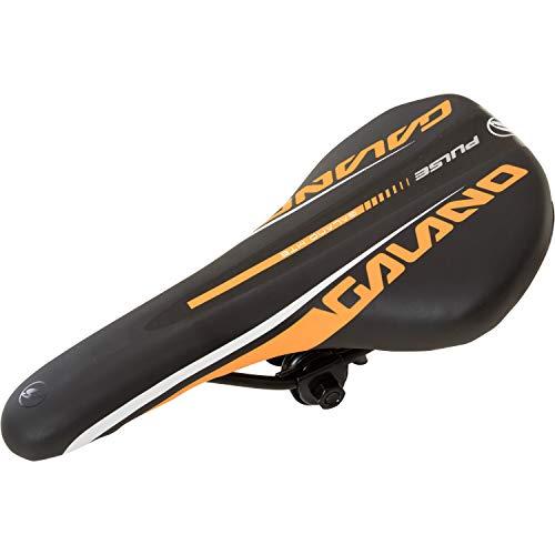 Galano Fahrradsattel Mountainbike Pulse Mountainbikesattel MTB Fahrrad Sattel (schwarz/orange)
