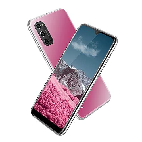 Smartphone Débloqué 4G, Téléphone Portable Pas Cher Écran Waterdrop 6.3 Pouces, Android 9.0, 3Go RAM + 32Go ROM, 4600mAh,5MP+ 8MP,Telephone Mobile Face ID/GPS/Dual SIM (Fente 3 en 1)-Rose
