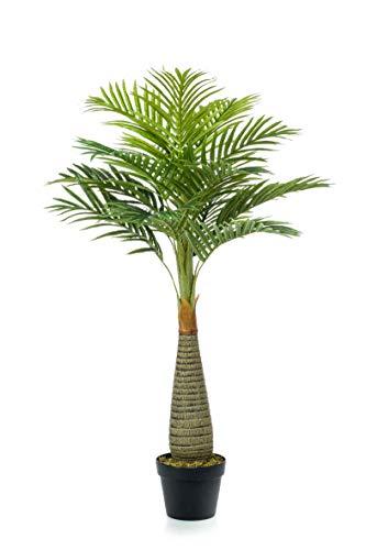 artplants.de Set 4 x Kunst Flaschenpalme Tejada, 110cm - Künstliche Palme - Deko Flaschenpalme