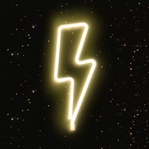 Neon Signs Lichter, LED Neonlicht, Kunst Dekorative Lichter Wanddekor für Baby Zimmer Weihnachtsdekor Hochzeit Studio Party (Blitz-Warmes Weiß)