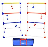 GoSports Premium Ladder Toss Outdoor Game Set with 6 Bolo Balls,...