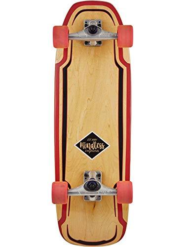 "Mindless Longboards Surf Skate Longboard Skateboard, Adultos Unisex, Marrón (Maroon), 9.5"""